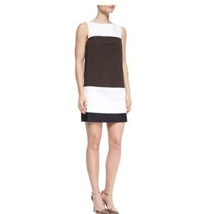 Kate Spade  Shift Dress Black White Color Block